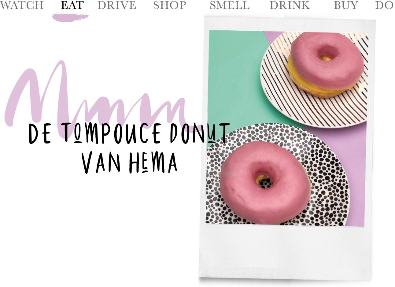 de nieuw donuts van de hema