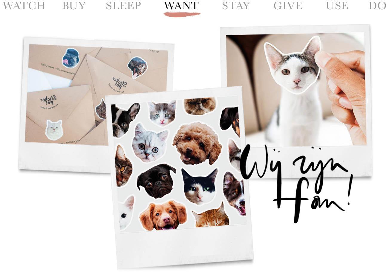 stickers van je huisdieren