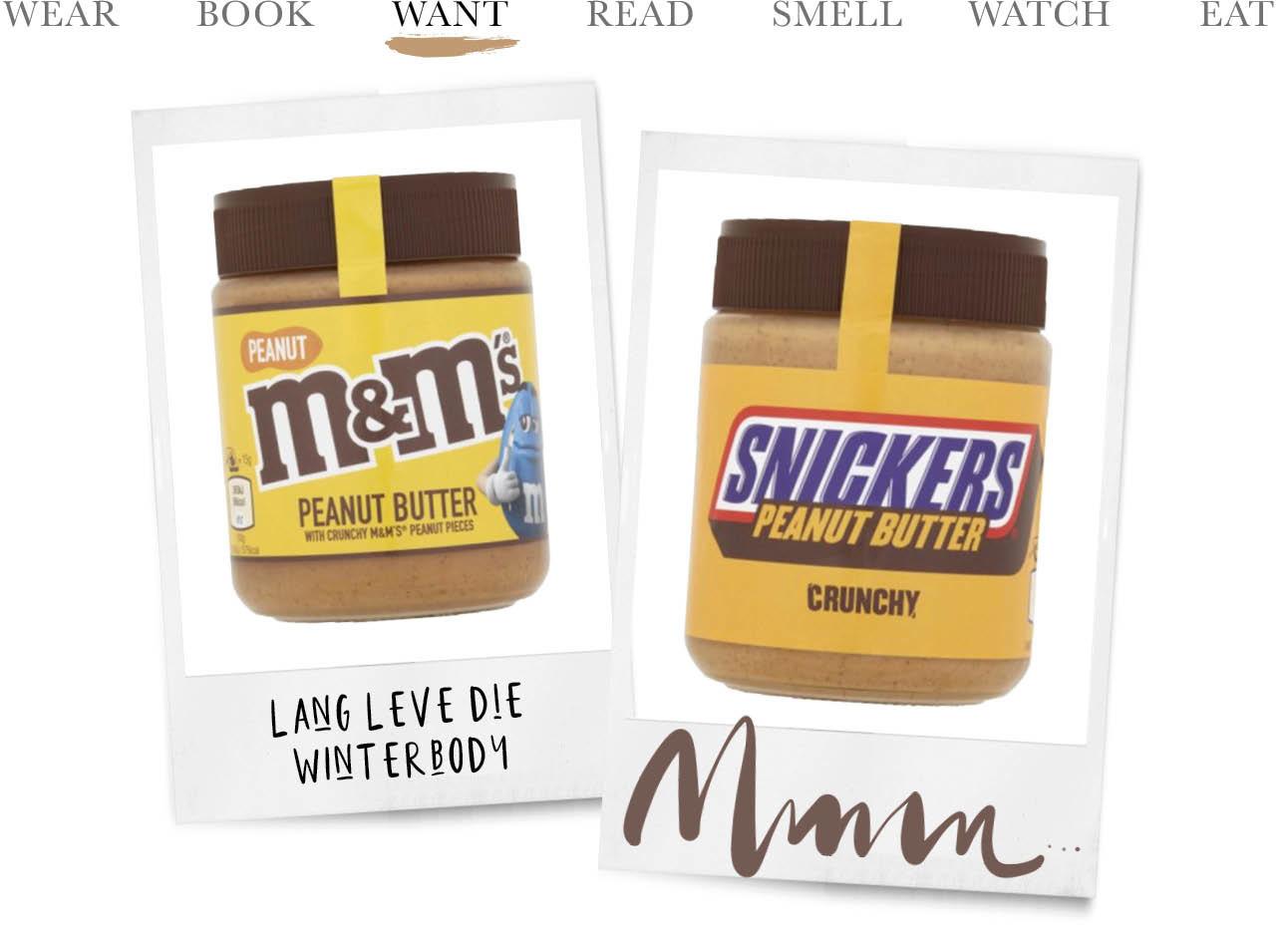 M&m en snickers pindakaas
