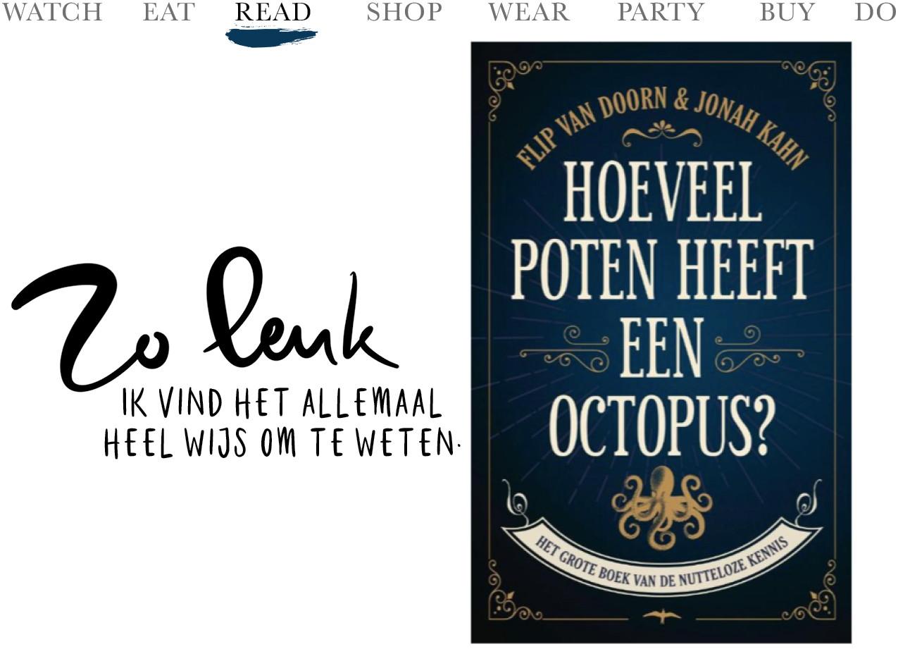 Het donkerblauwe boek hoeveel poten heeft een octopus