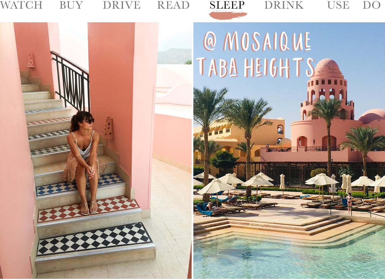 beelden van het Mosaique Beach Resort Taba Heights hotel met kiki