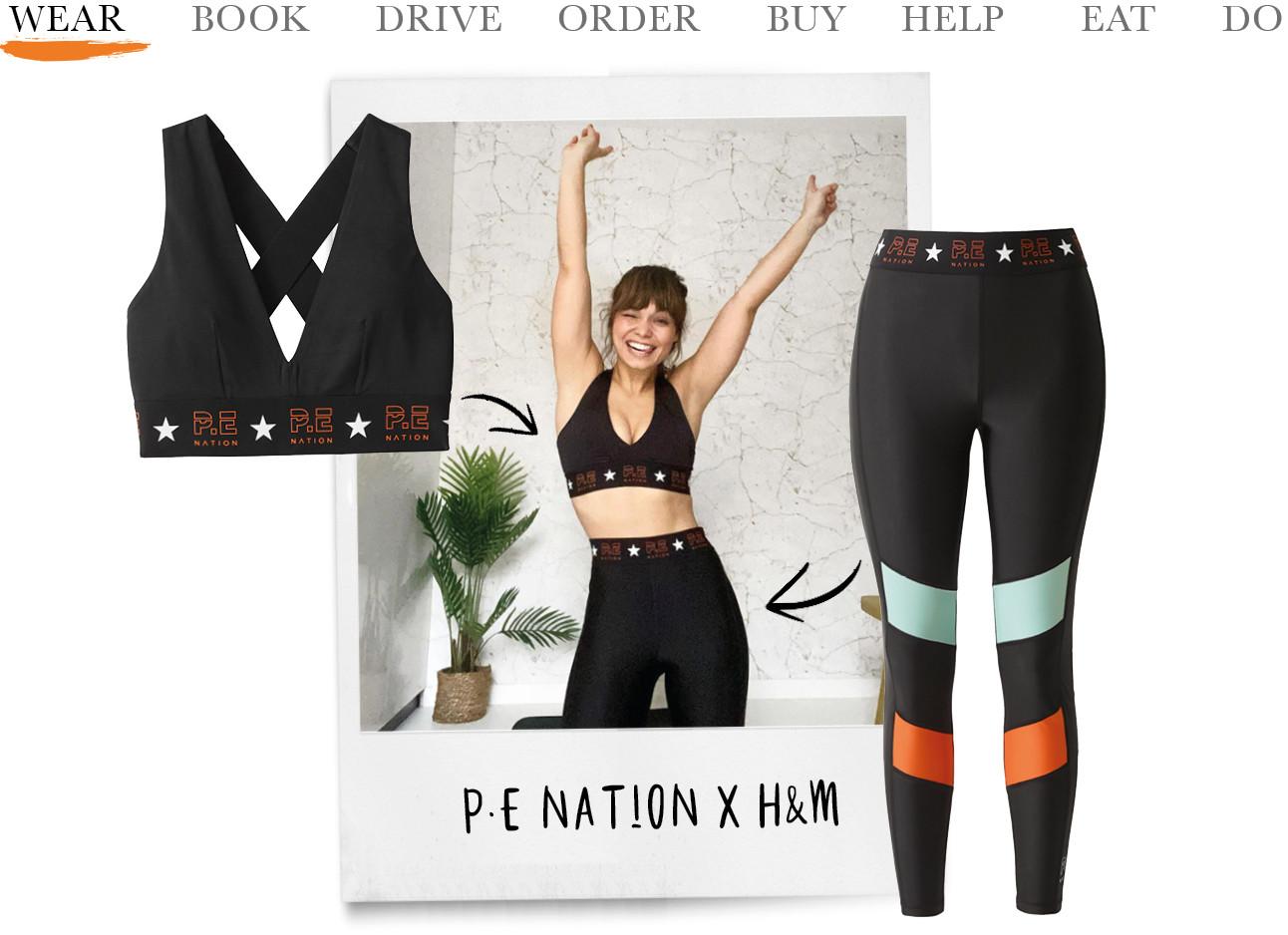 kiki draag nieuwe collectie van H&M Wear x PE Nation