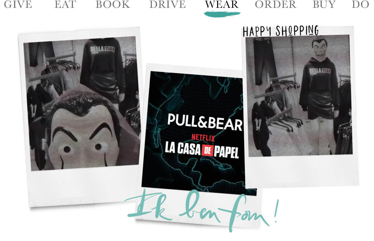 Today we wear - La Casa de Papel by Pull & Bear