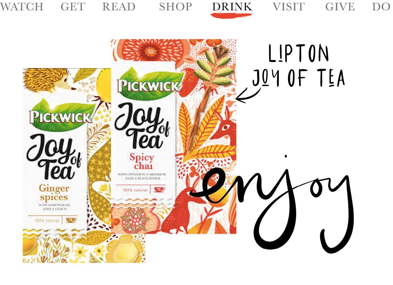 2 pakken van de nieuwe lipton joy of tea
