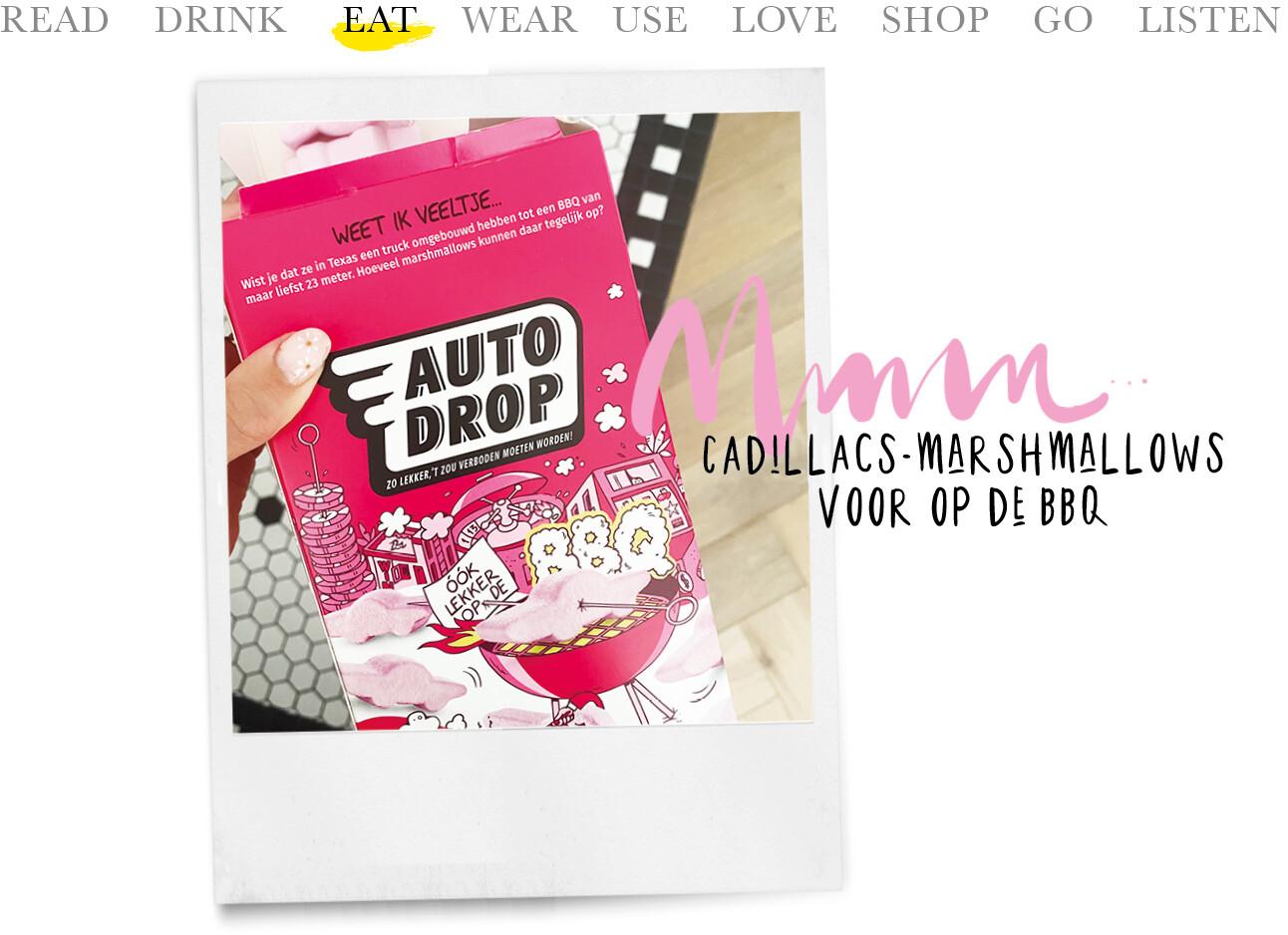todaywe-Autodrop Cadillacs-marshmallows voor op de BBQ