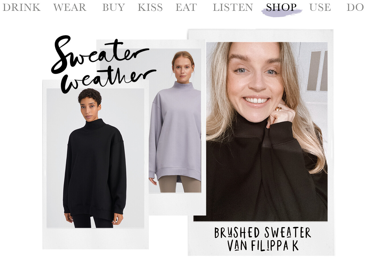 Lotte van scherpenzeel soft sport Brushed Sweater Filippa K