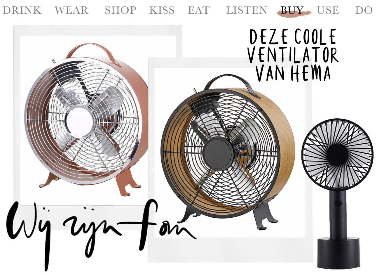 Today we buy deze coole ventilator van Hema