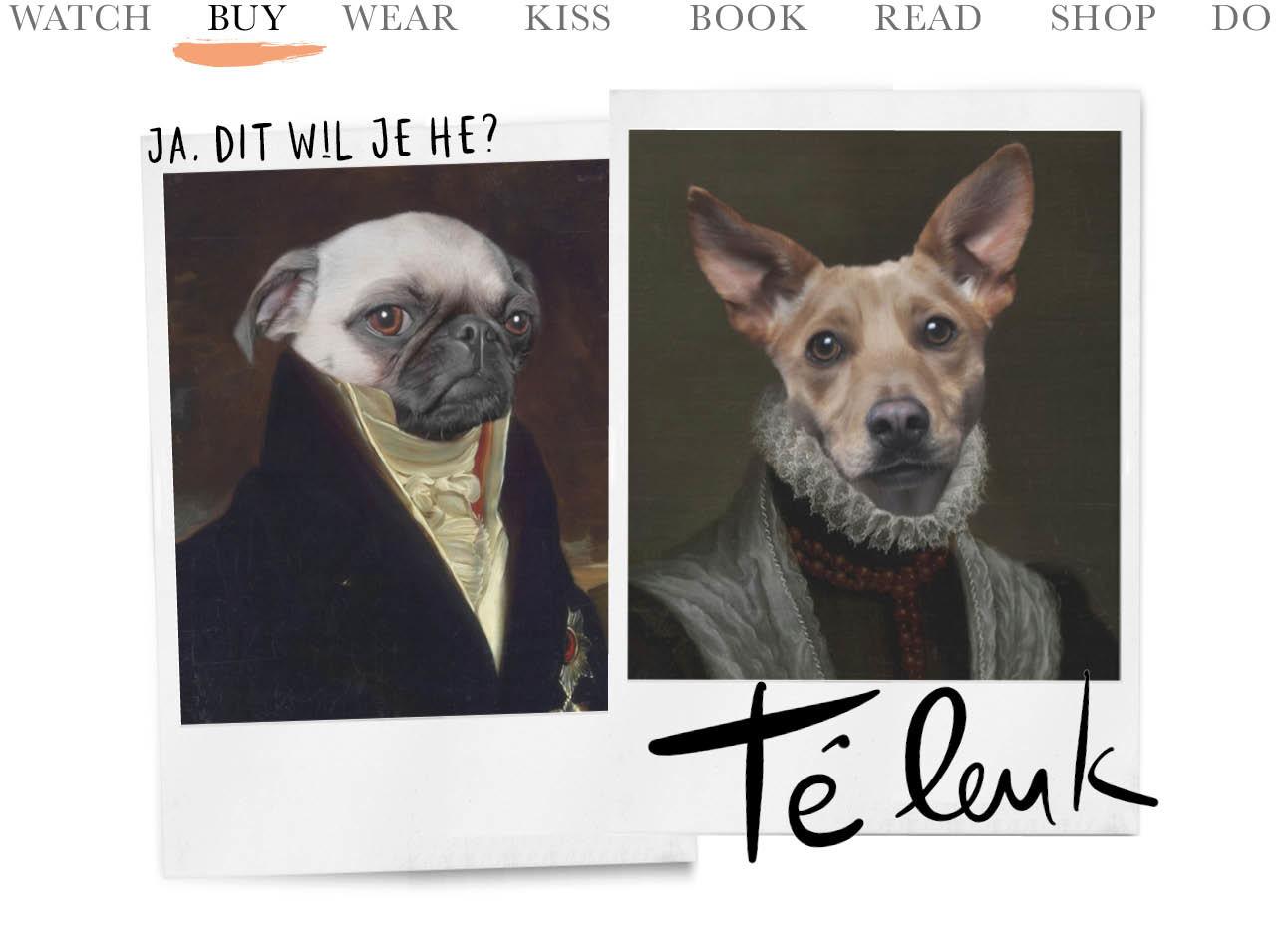 today we dieren portret van je huisdier in een net jasje