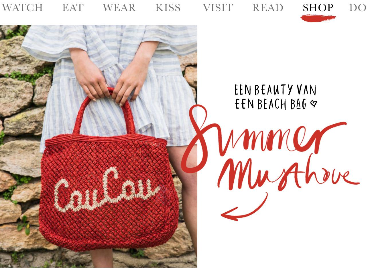 coucou tas ou boutique strand rood