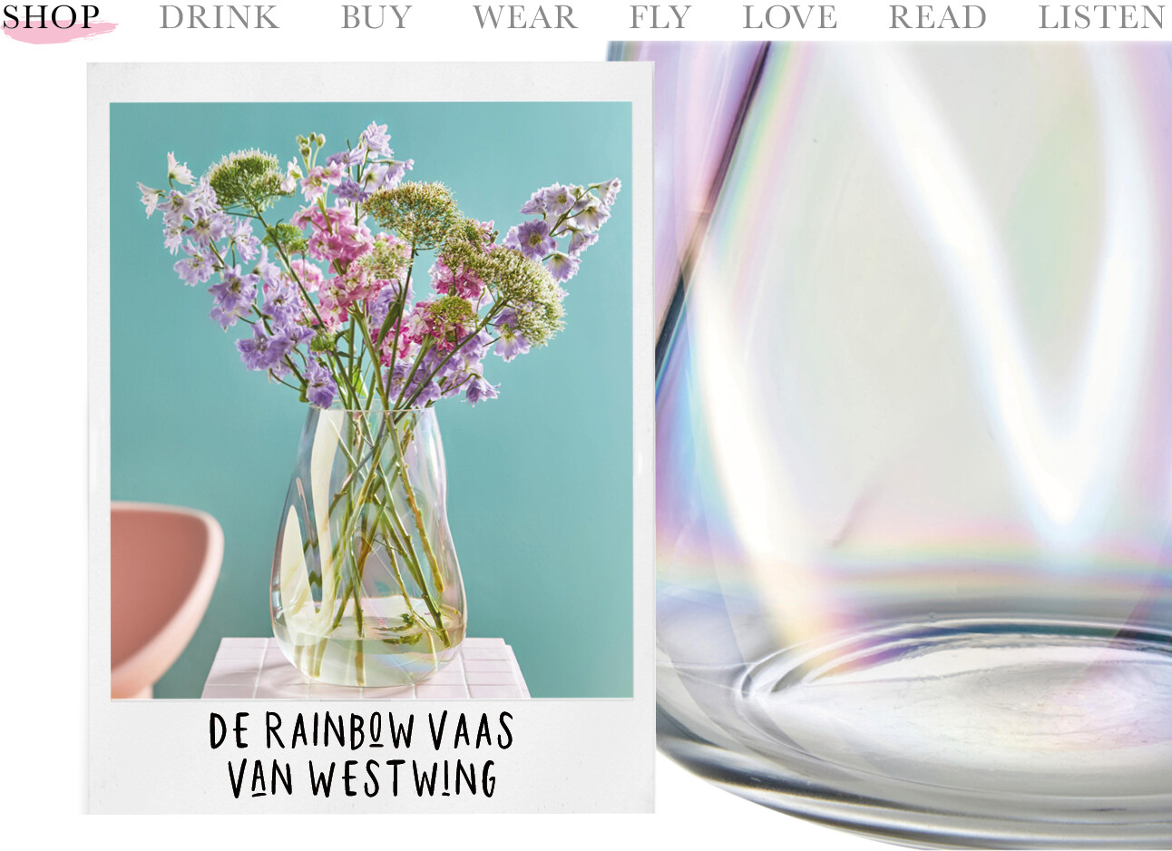 de Rainbow vaas van Westwing