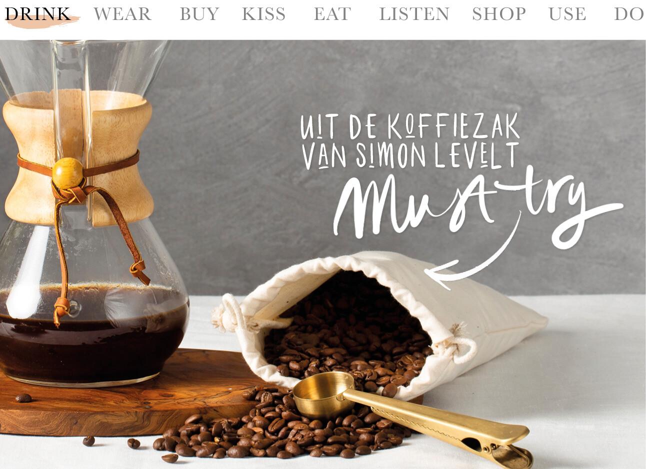 Today we drink uit de koffiezak van Simon Lévelt