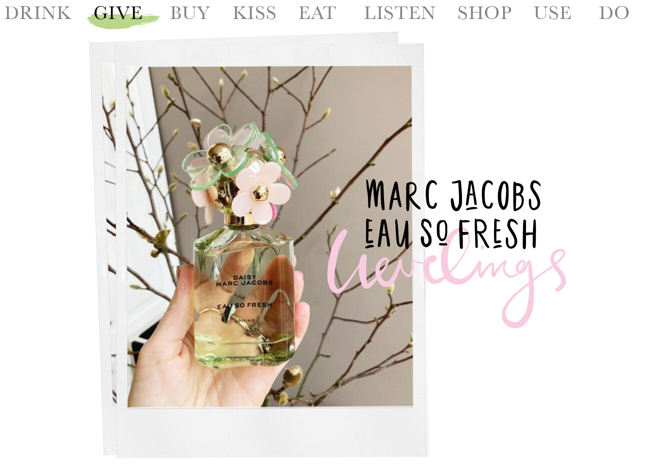 Today we…give Marc Jacobs EAU SO FRESH