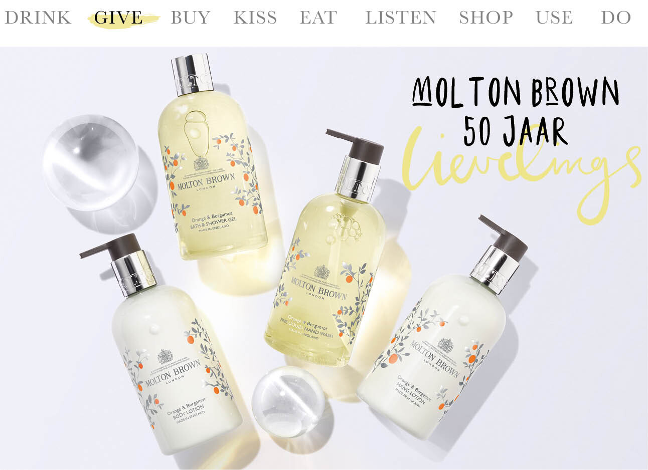 Molton Brown 50 jaar limited edtion Orange & Bergamot