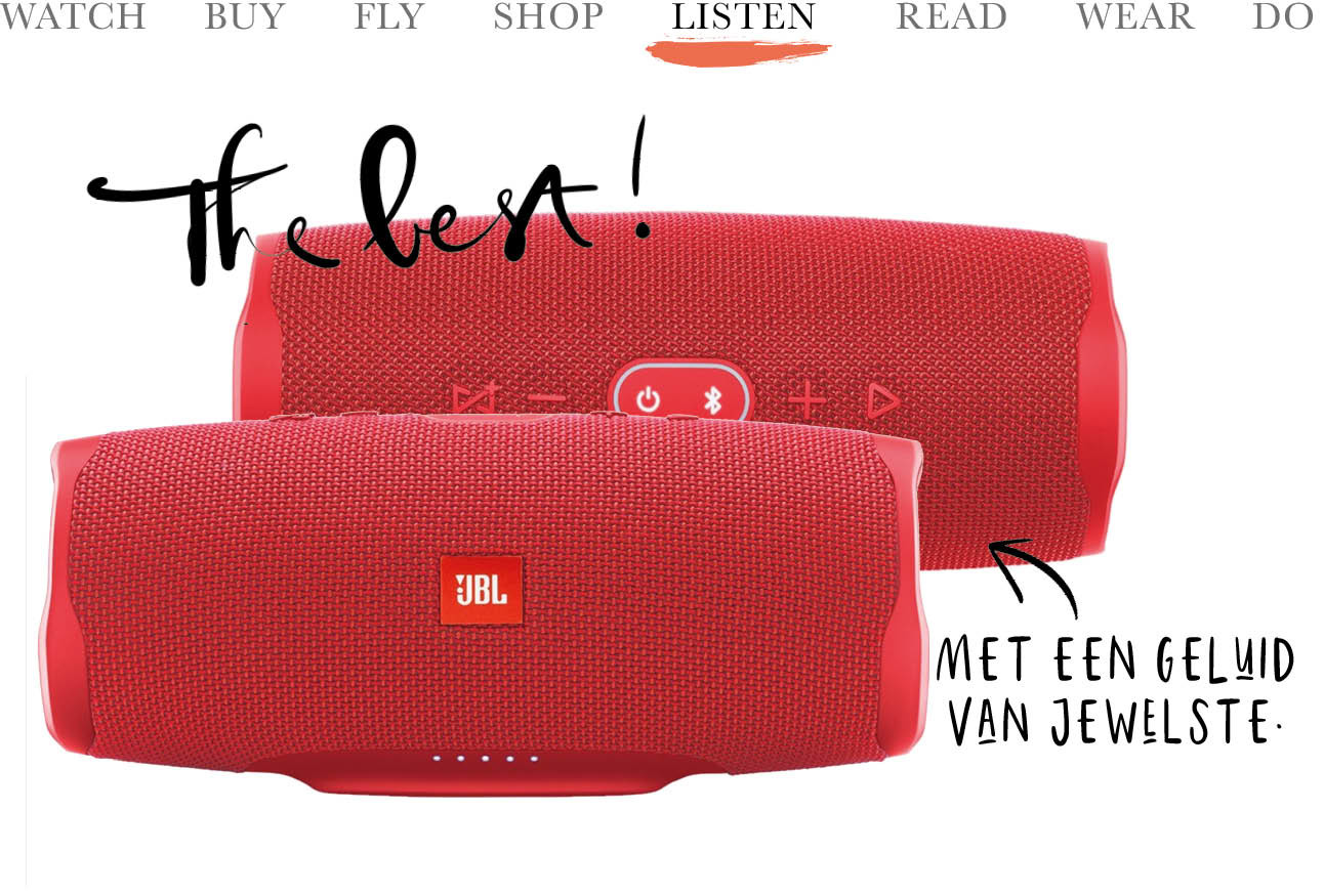 JBL rood speakers geluid muziek