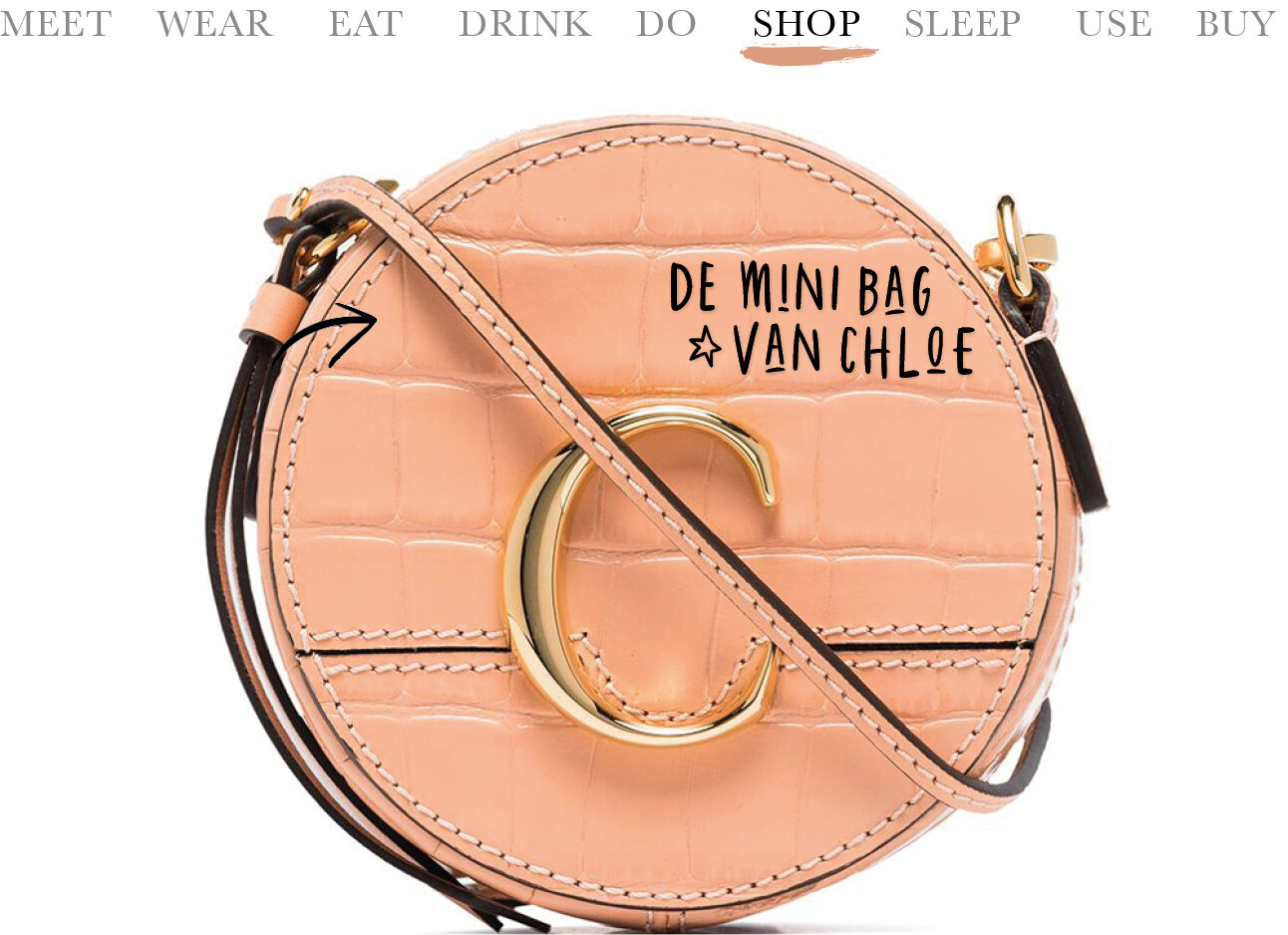 Today we shop de mini bag van Chloé