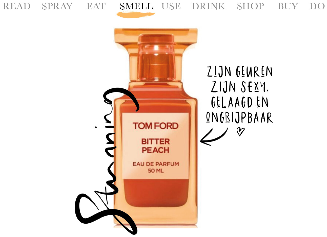 Today we…smell Tom Ford Bitter Peach