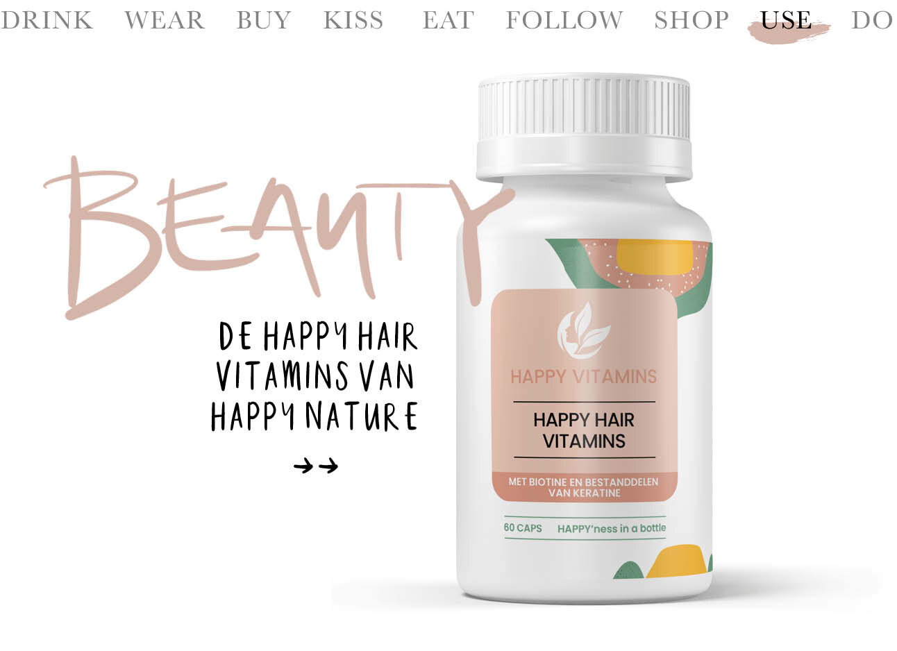 Today we use - happy hair vitamins