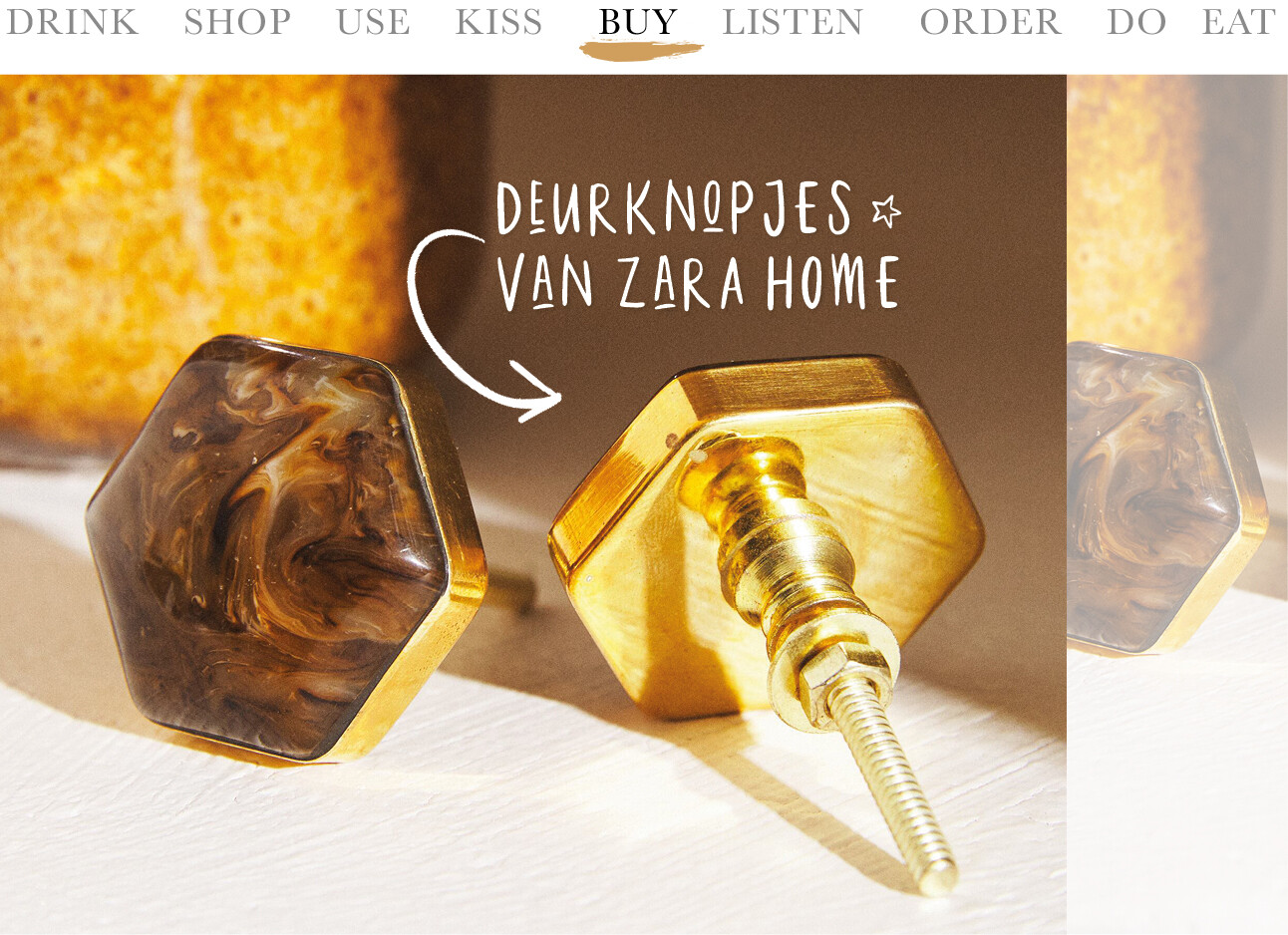 Today we buy deurknopjes van Zara Home