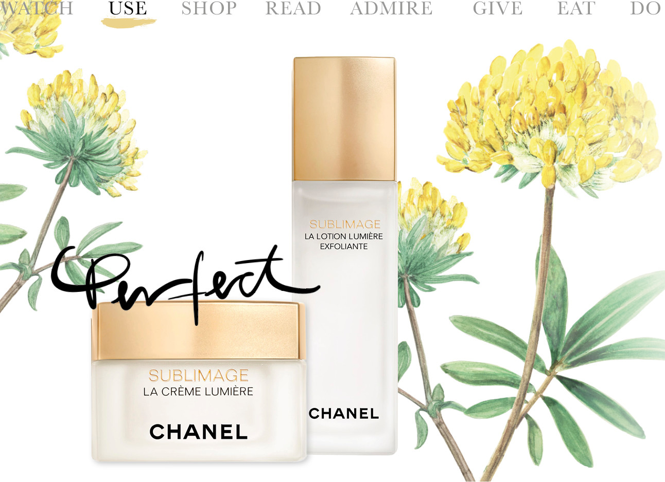 Sublimage-lijn van Chanel creme en lotion today we use