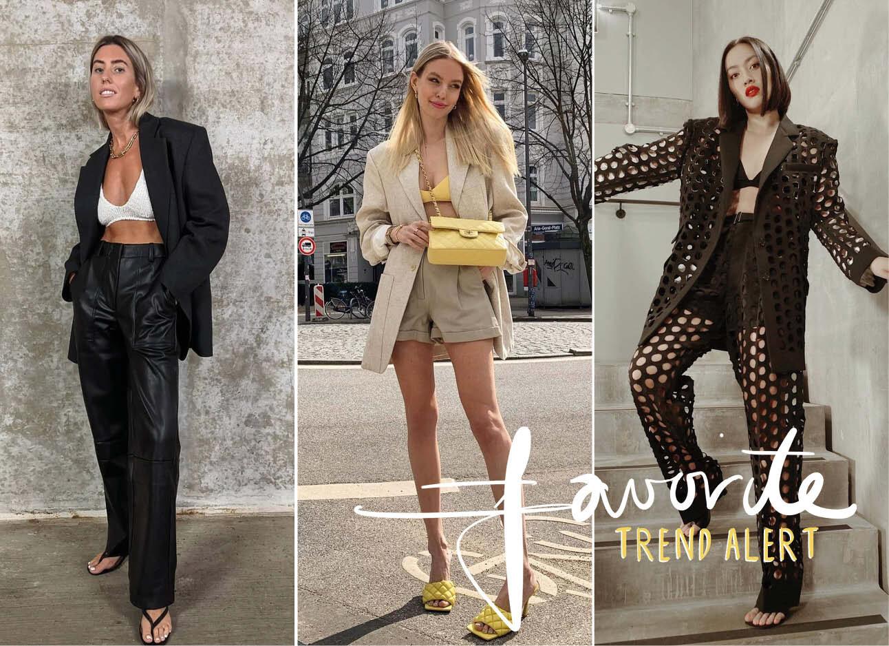 Trend alert: beha's en blazers zijn de nieuwe match made in fashion heaven