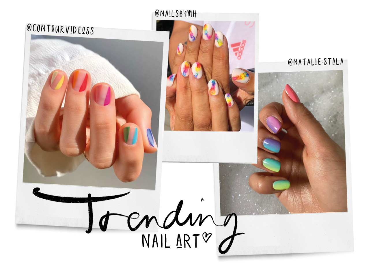 Nail art trends rainbow