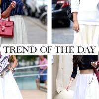 Trend of the day de witte wijde rok