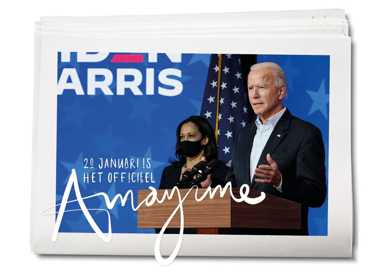 Joe Biden neemt een All Female Team in het Witte Huis