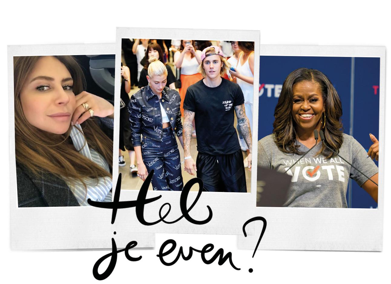 trending topic in polaroids olcay gulsen presentatrice, hailey en justin bieber en michelle obama