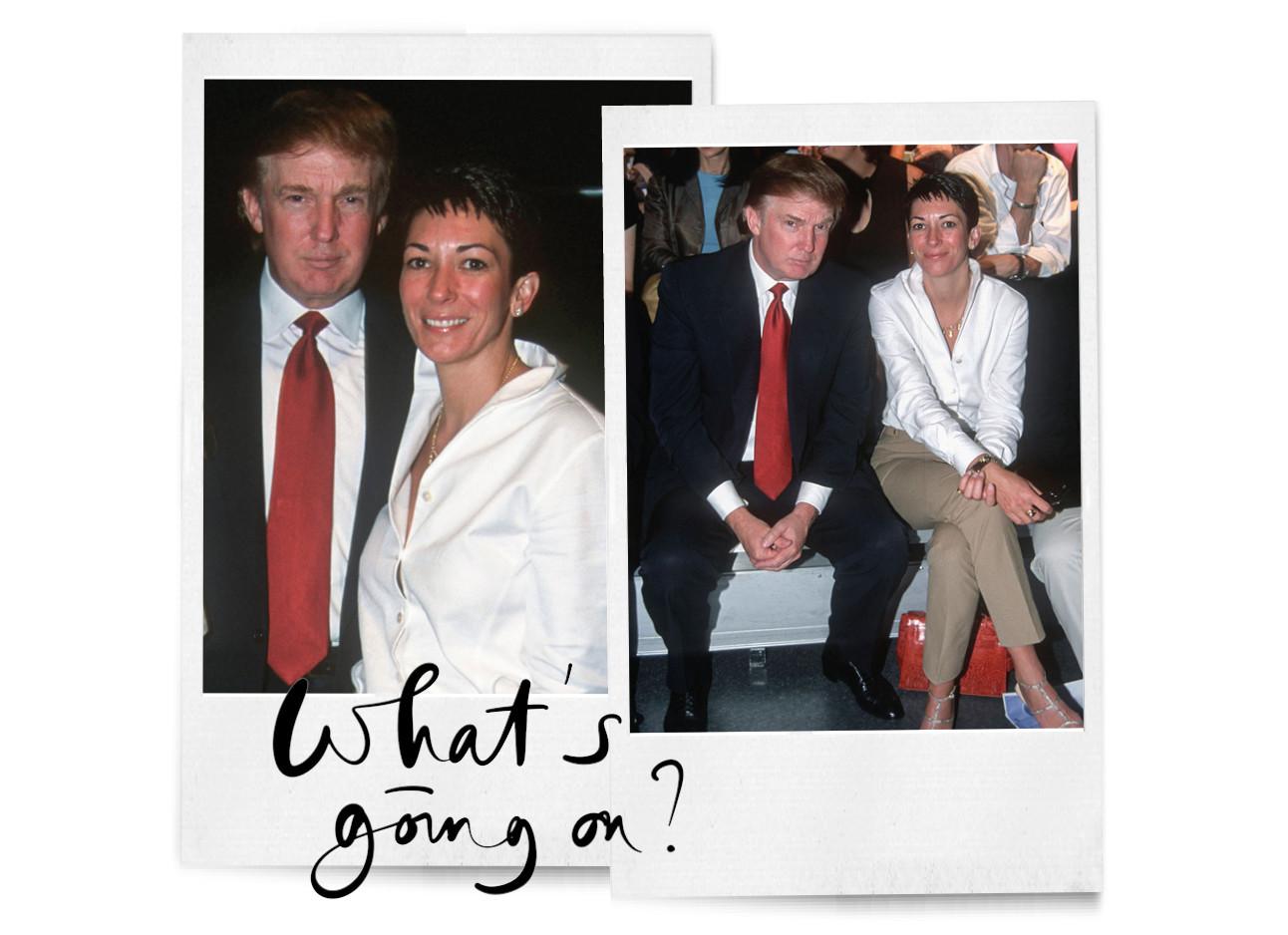 Donald Trump en Ghislaine Maxwell