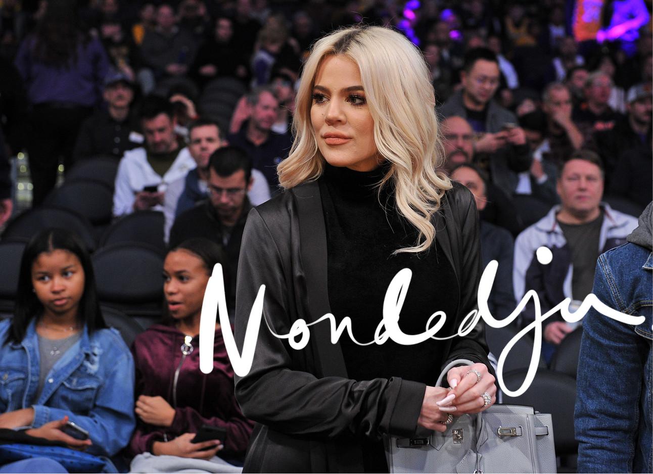 khloe kardashian tijdens een wedstrijd