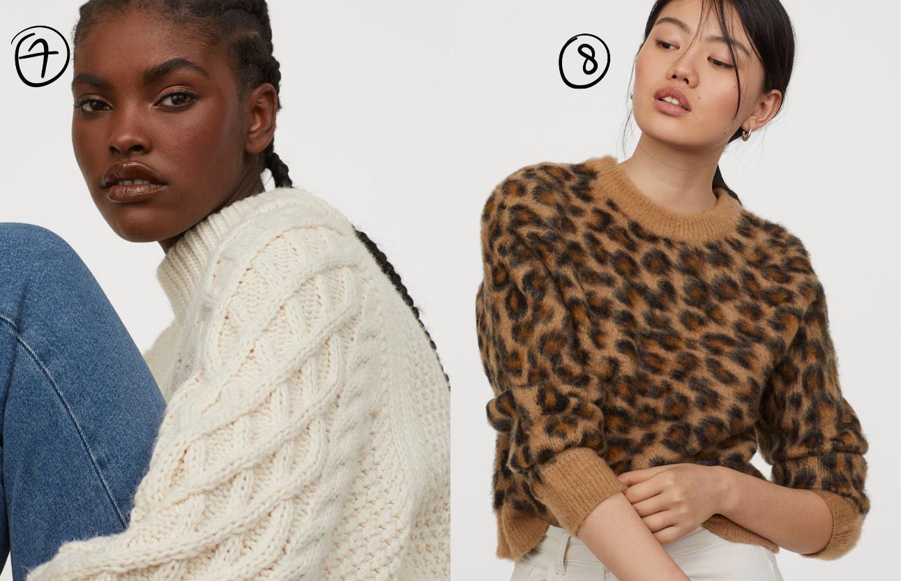 beelden van de truien van de h&M