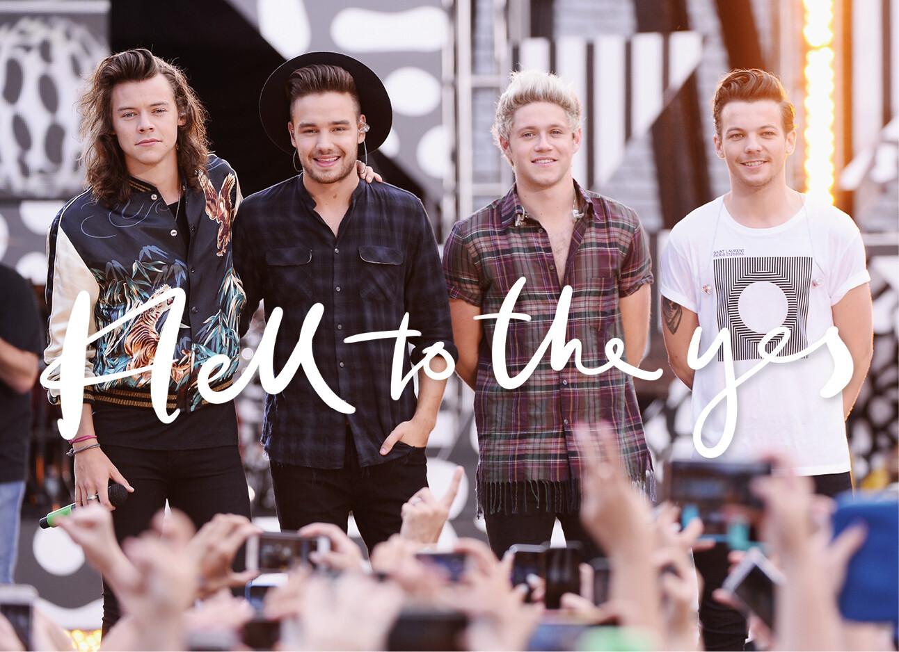 One Direction op het podium