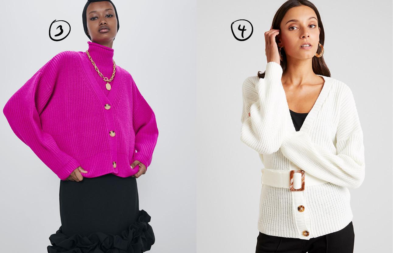 beeld van meiden die verschillende soorten vesten dragen