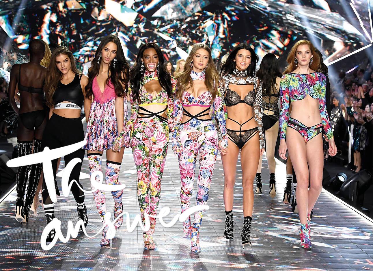 victoria secret show 2018 modellen op de catwalk