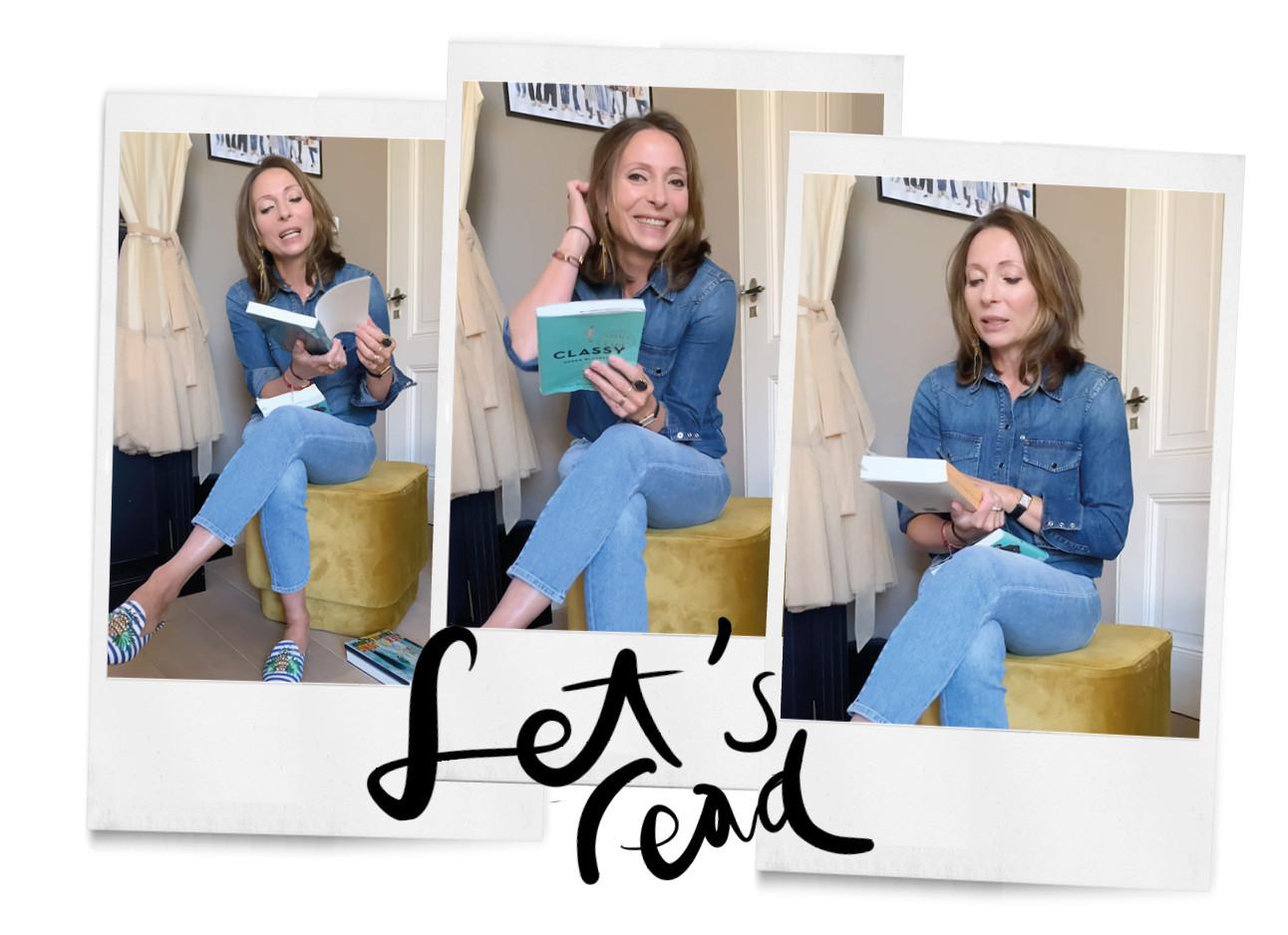May in de video met boekentips in een jeans thuis