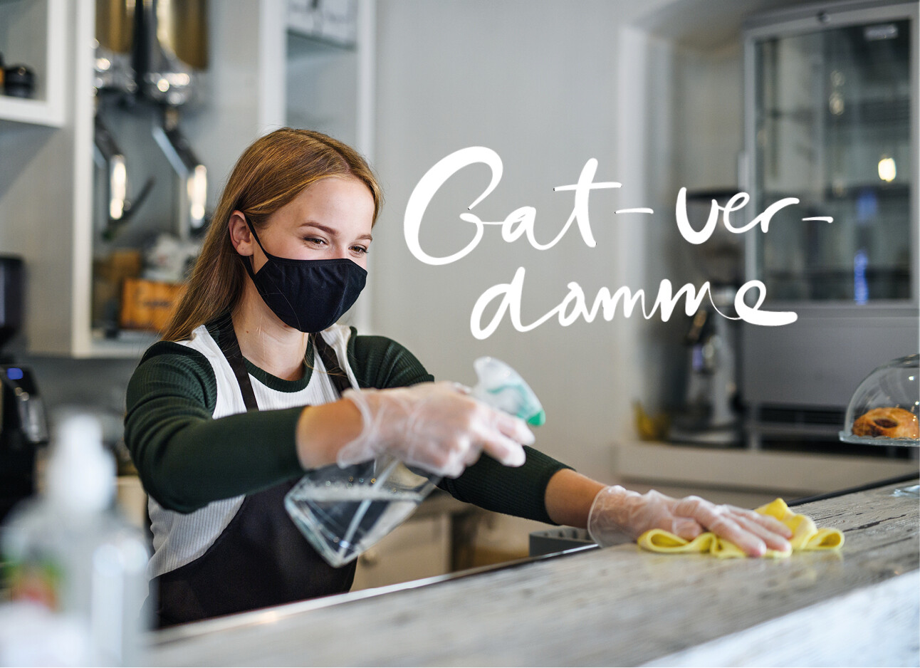 vrouw schoonmaken