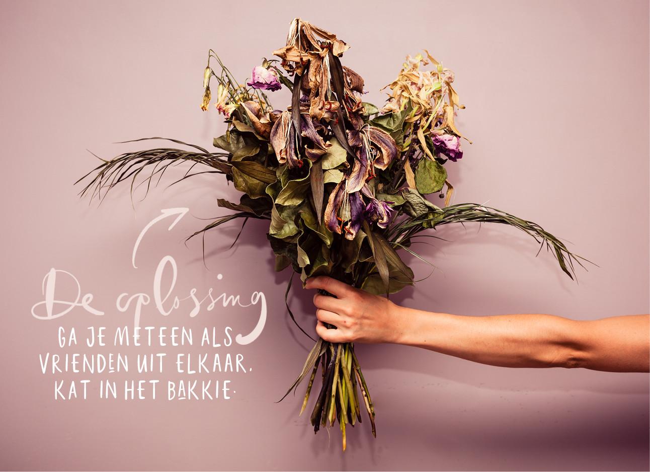 Bos verlepte bloemen