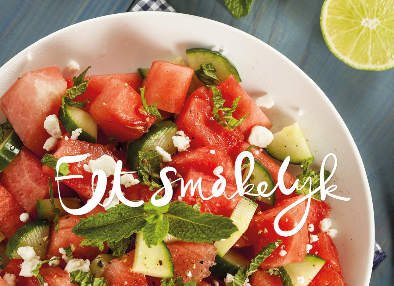 Salade mozzarella watermeloen