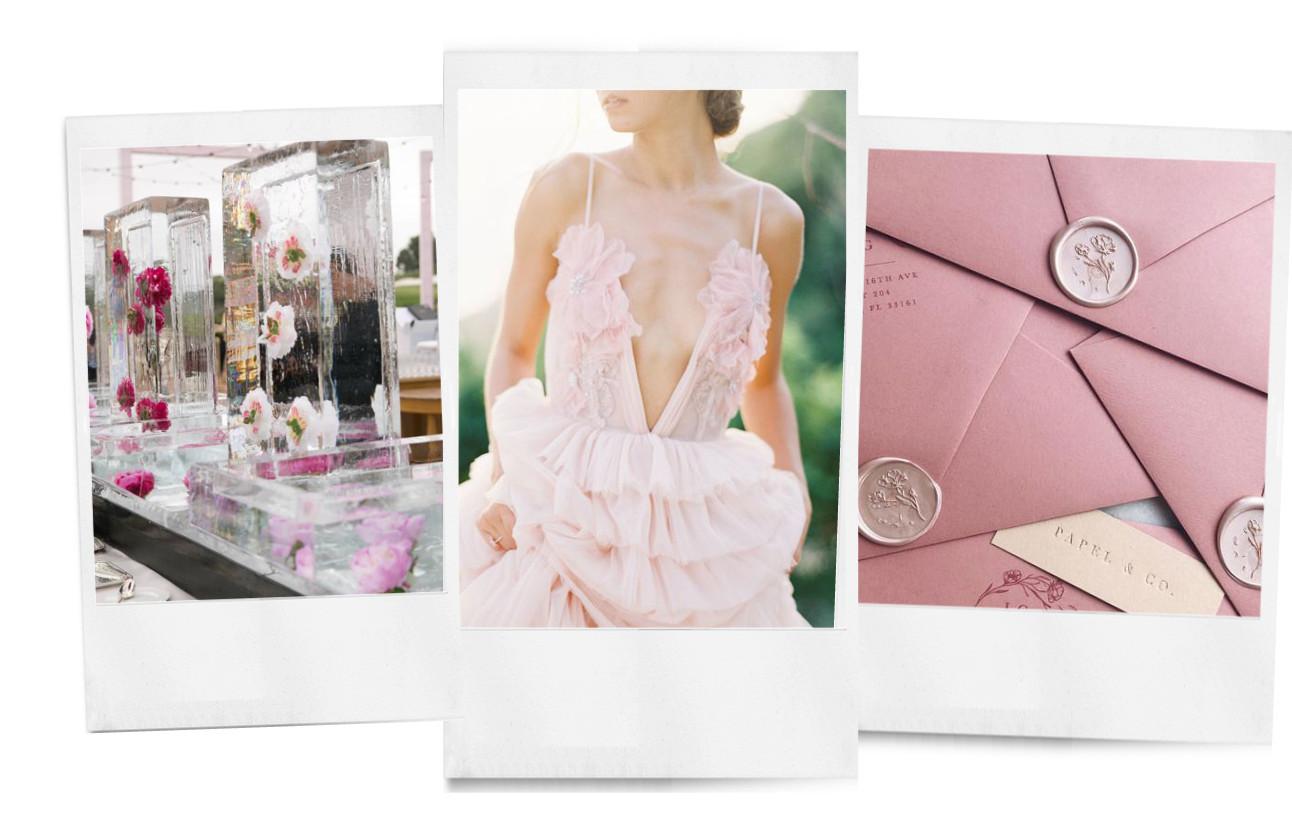 trouw inspiratie in het roze