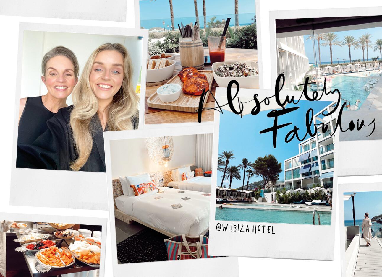 W Ibiza hotel Lotte en Karin op reis zwembad zomer
