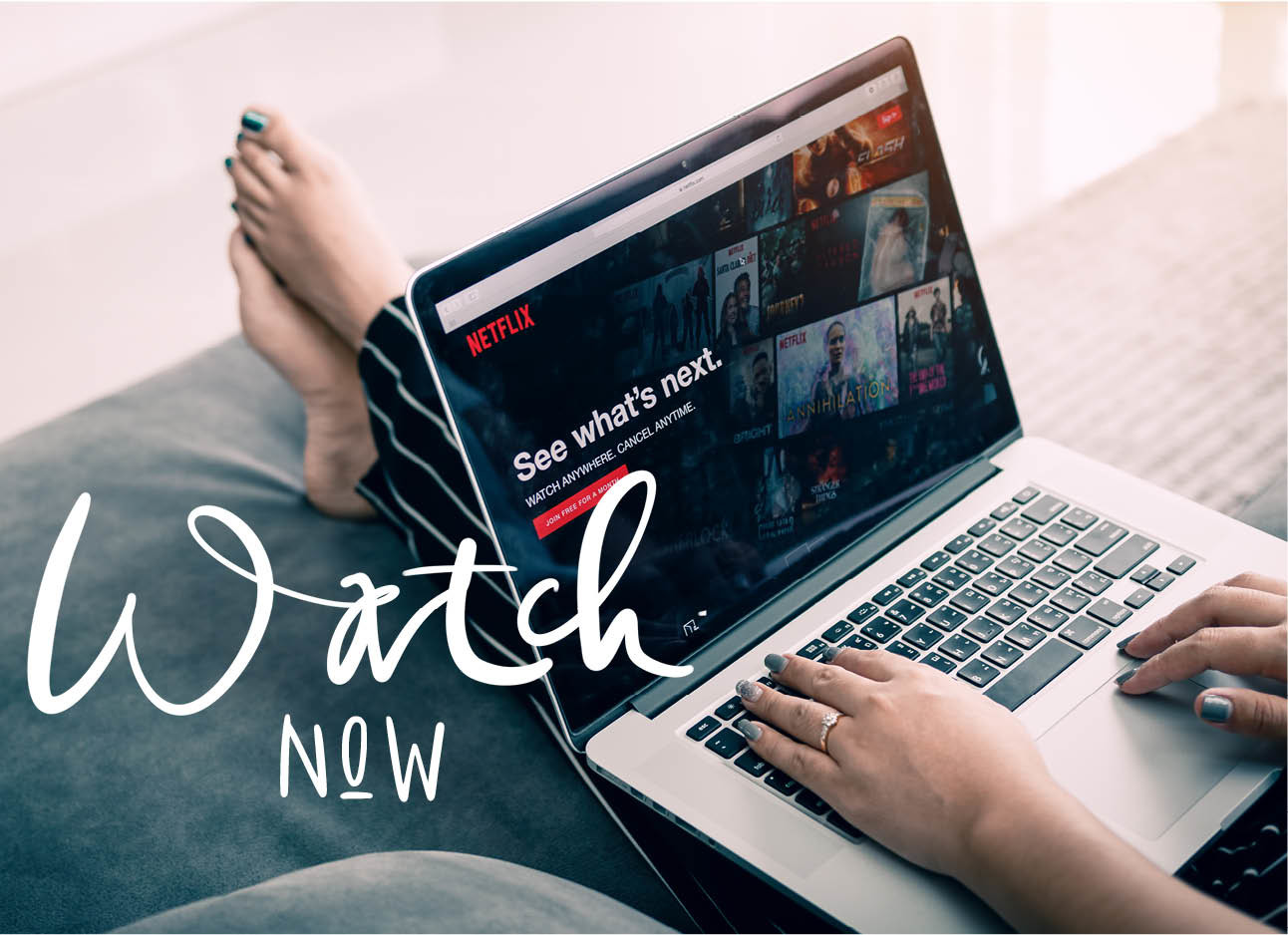 Netflix op computerscherm