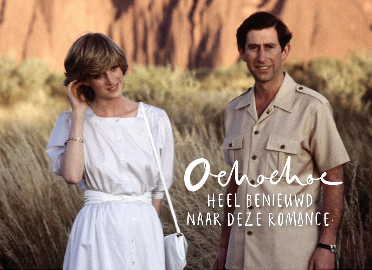 Prinses Diana en prins Charles in Afrika