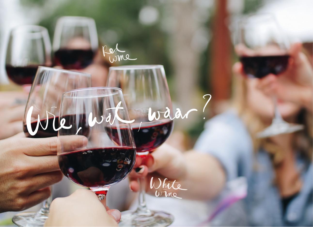 wijn proosten