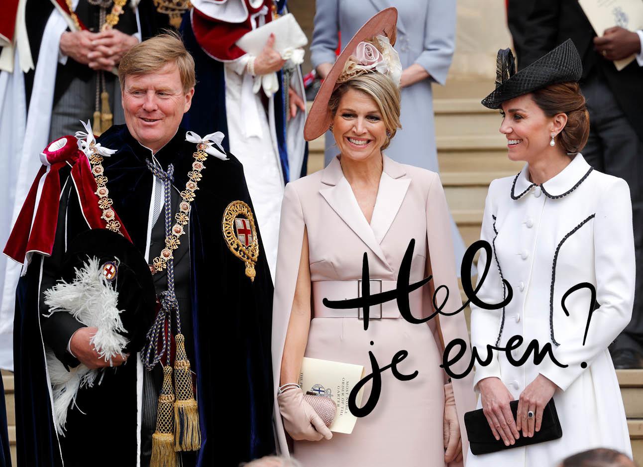 Koning willem-alexander, koningin Maxima en Kate Middleton