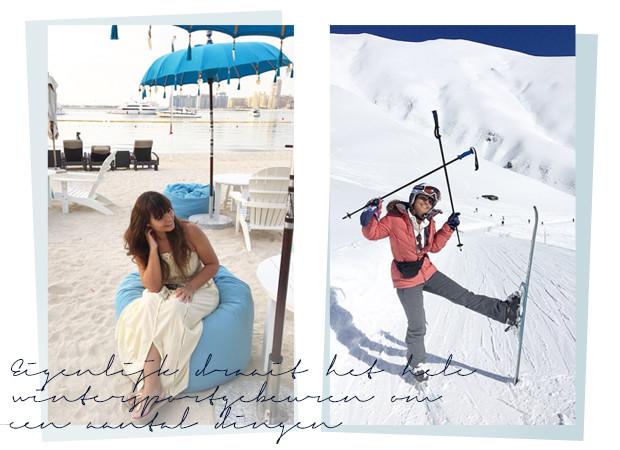 Kiki Duren op wintersport