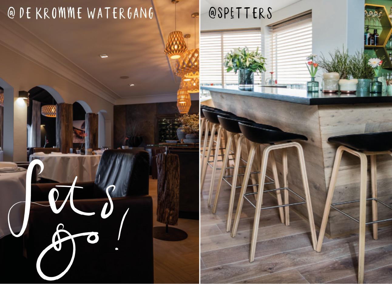 beelden van restaurant in zeeland met mooi en strak interier