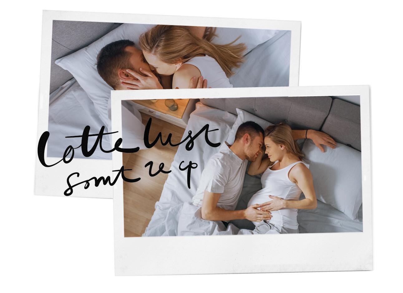 seks tijdens zwangerschap man en vrouw in bed